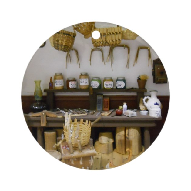 Basket Weaving Ornaments : Basket weaving room round ornament by admin cp