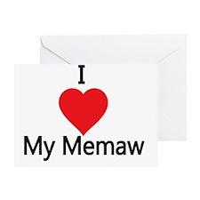 I love my Memaw Greeting Card