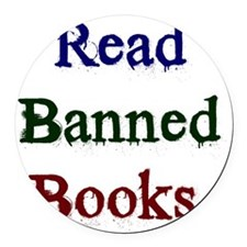 Read Banned Books. Round Car Magnet