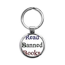 Read Banned Books. Round Keychain