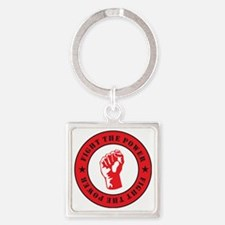 Fight The Power Square Keychain