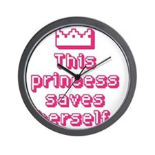 This Princess Saves Herself Wall Clock