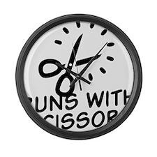 Runs with Scissors Large Wall Clock
