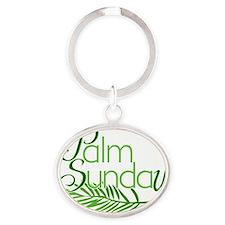 Palm Sunday Jesus  Oval Keychain