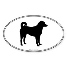 Appenzeller Silhouette Oval Decal