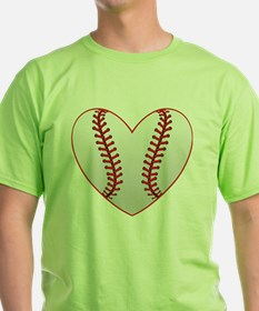 cute Baseball Heart T-Shirt
