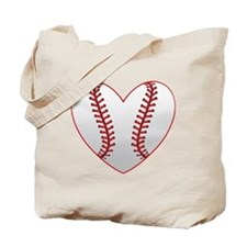 cute Baseball Heart Tote Bag
