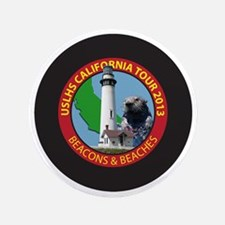 "Lighthouses of Southern and Central Ca 3.5"" Button"