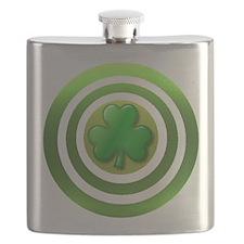 Shamrock Shield Flask