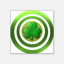 "Shamrock Shield Square Sticker 3"" x 3"""