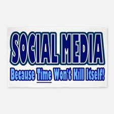 Social Media Kill Time 3'x5' Area Rug