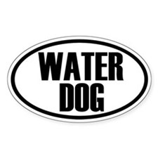Water Dog Oval Decal