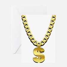Gold Chain Greeting Card