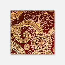 "red gold swirls Square Sticker 3"" x 3"""