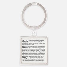 Their/There/Theyre Square Keychain