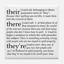 Their/There/Theyre Tile Coaster