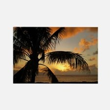 Sunset on Oahu Rectangle Magnet