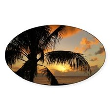 Sunset on Oahu Decal