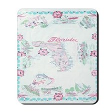 Vintage Florida Map Tablecloth Mousepad