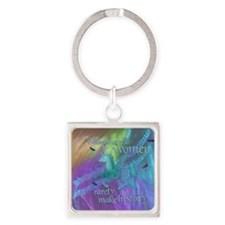 Well-behaved Unicorn Square Keychain