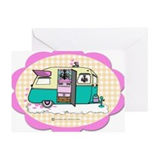 lil vintage trailer Greeting Card