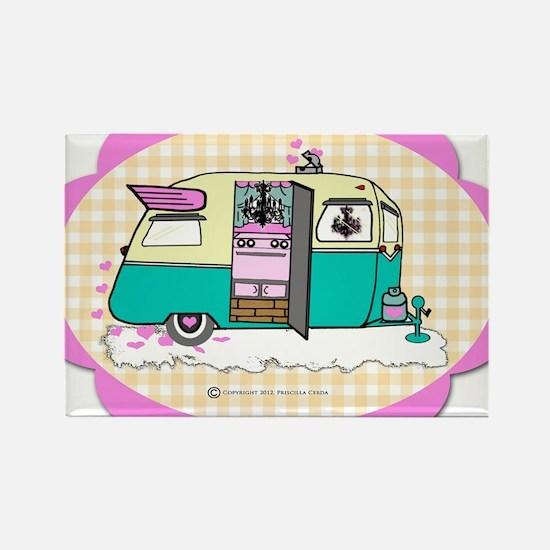 lil vintage trailer Rectangle Magnet