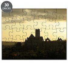 Irish Church Tower at Sunset Puzzle