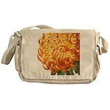Orange Chrysenthemum Messenger Bag