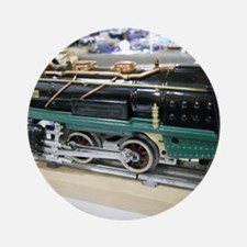 Train Engine Round Ornament