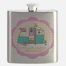 lil vintage trailer Flask