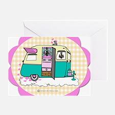 lil vintage trailer Greeting Card