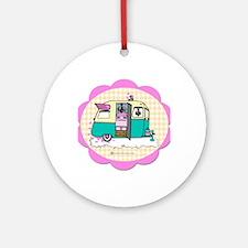 lil vintage trailer Round Ornament