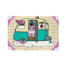lil vintage trailer Rectangle Magnet