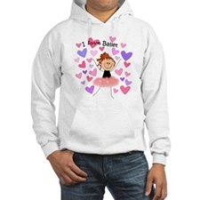 I Love Ballet with hearts Hoodie