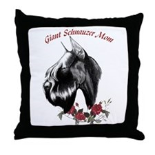 Unique Mother's day schnauzer Throw Pillow