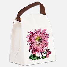 Pink Chrysanthemum Canvas Lunch Bag