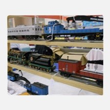 Pieces Of Train Sets Throw Blanket