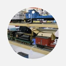 Pieces Of Train Sets Round Ornament