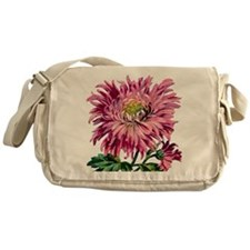 Pink Chrysanthemum Messenger Bag