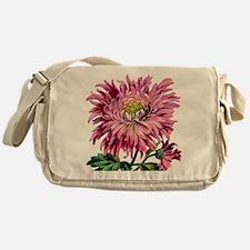 Pink Chrysanthemum Messenger Bag