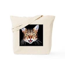 Cat_mean_face_drk Tote Bag