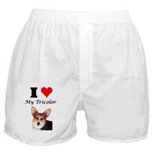 I Love my Tricolor Corgi Boxer Shorts