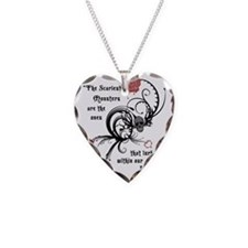 Cool Gothic Edgar Allen Poe Necklace Heart Charm