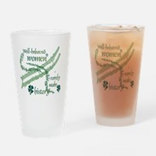 Well-behaved Shamrocks Drinking Glass
