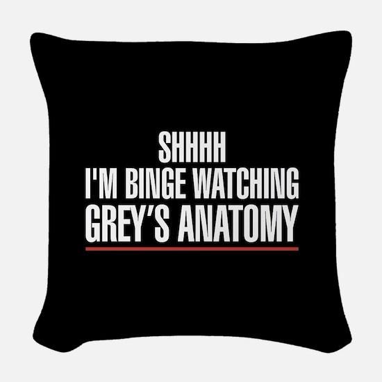 Grey's Anatomy Binge Watching Woven Throw Pillow
