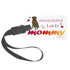 chocolate lab mommy-more breeds Luggage Tag
