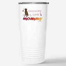 chocolate lab mommy-mor Stainless Steel Travel Mug