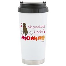 chocolate lab mommy-mor Travel Mug