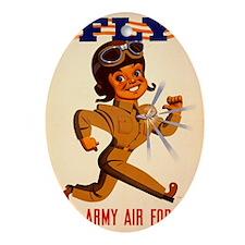 Fly USAAF Oval Ornament