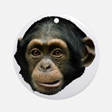 Chimpanzee Round Ornament